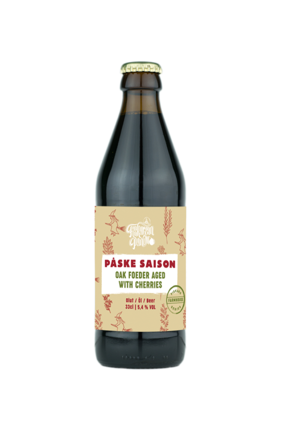 Oak foeder aged saison with cherries